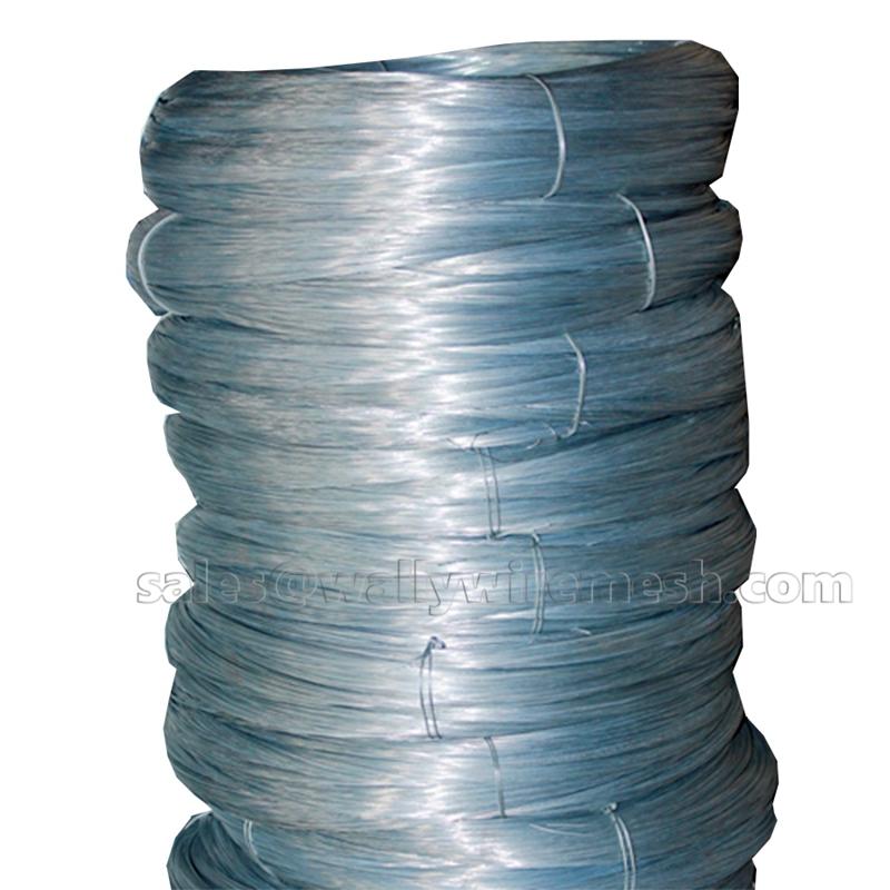 Galvanized iron wire stem smooth merchant