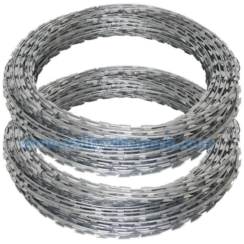 Concertina razor wire barbed tape